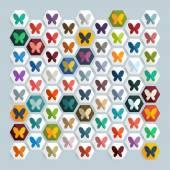 Fjäril-ikonen — Stockvektor