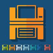 Printer icon — Stock Vector