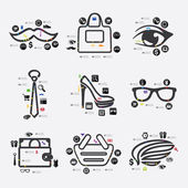 Fashion infographic — Stock Vector
