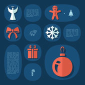 Christmas flat infographic — Stock Vector