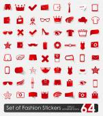Set of fashion stickers — Stock Vector