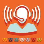 Pictogram van call center — Stockvector