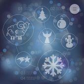 Christmas infographic — Cтоковый вектор