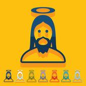 Jesus-ikone — Stockvektor