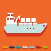Cargo ship icon — Stock Vector