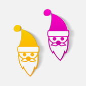 Santa Claus icon — Stock Vector