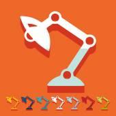 Desk lamp icon — Stock Vector