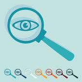 Detective icon — Stok Vektör