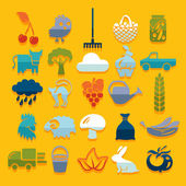Set of agriculture icons — Stock Vector