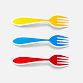 Fork icon — Stock Vector