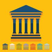 символ здания суда — Cтоковый вектор