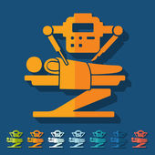 Robot surgeon icon — Stock Vector