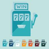 Slot machine icon — Stock Vector
