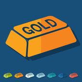 Bullion gold icon — Stock Vector