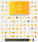 Set of football stickers — Stock Vector