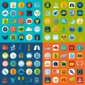Set of veterinary flat icons — Stock Vector