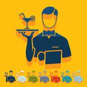 Waiter icon — Stock Vector