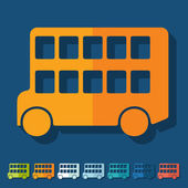 Bus double decker icon — Stock Vector