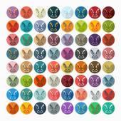 Easter rabbit icon — Stock Vector