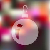 Noel top simgesi — Stok Vektör