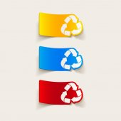 Recycle sign icon — Stock Vector