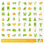 Set of Christmas stickers — Stock Vector