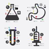 Medicina infographic — Vetor de Stock