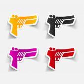 Gun game icon — Stock Vector