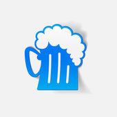 Bier pictogram — Stockvector