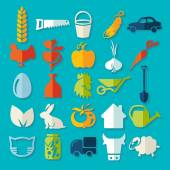 Set of agriculture icons — Stockvektor