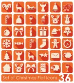 Set of Christmas icons — Stock Vector