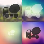 Cement Mixer icon — Stock Vector