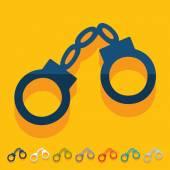 Handcuffs icon — Stock Vector
