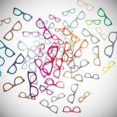 Abstract background: glasses — Stock Vector