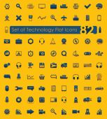 Set of technology flat icons — Stock Vector