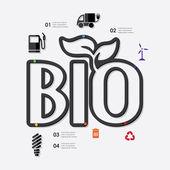 Инфографический символ экологии — Cтоковый вектор