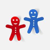 Gingerbread man icon — Stock Vector