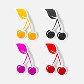 Cherry icon — Stock Vector