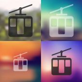 Funicular icon on blurred background — Stock Vector