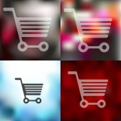 Trolley icon blurred — Stock Vector