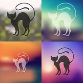 Cat icon blurred — Stock Vector