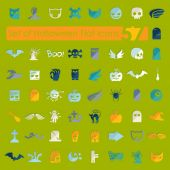 Set of halloween flat icons — Stock Vector