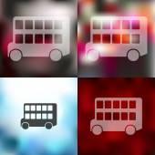 Bus double decker icon — Stock Vector