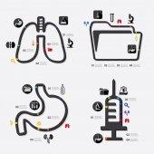 Medicine infographic icon — Stock Vector