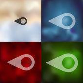 Geometric icon illustration — Vetor de Stock