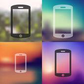 Smartphone icon illustration — Stock Vector