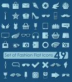 Set of fashion flat icons — Stockvektor