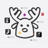 Christmas icon infographic — Stock Vector