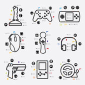Game icon infographic — Stock Vector
