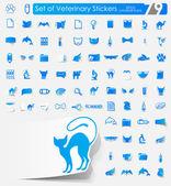 Set of veterinary stickers — Stock Vector